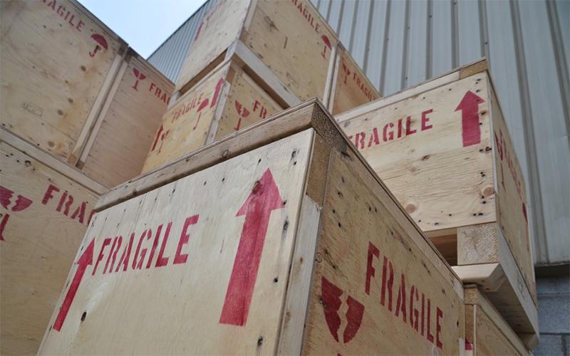 Transporte de cargas frágeis